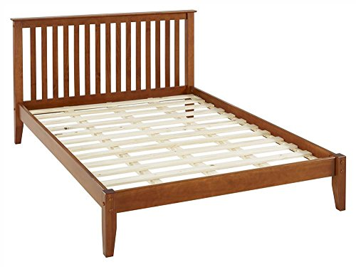 Camaflexi Queen Platform Bed in Cherry Finish