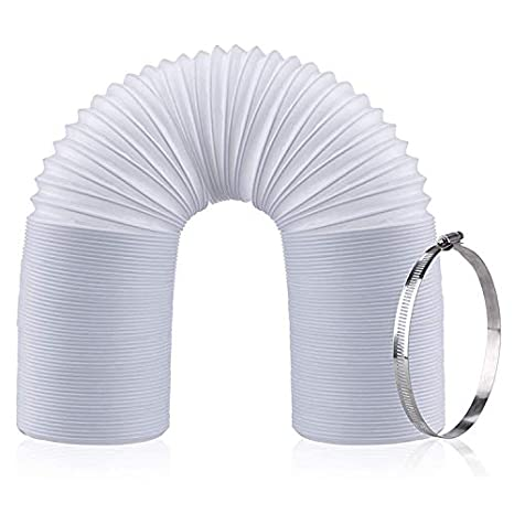 Portable Air Conditioner Exhaust Hose | Clockwise/Counter Clockwise Threads | 5 Inch Diameter | 59 Inch Length Breezee