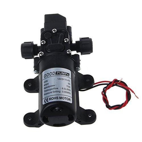 Allrise 12V DC 130PSI 6L/Min 70W Diaphragm Pump High Pressure Water Automatic Switch Self
