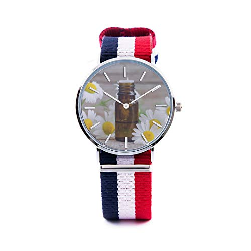 - Unisex Fashion Watch German City Free Travel Romantic Color Print Dial Quartz Stainless Steel Wrist Watch with Nylon NATO Strap Watchband for Women Men 36mm Casual Watch