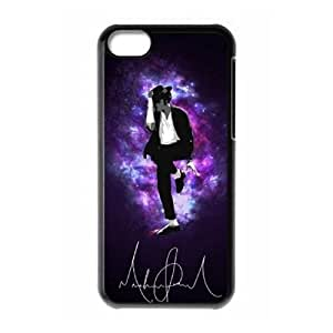 Custom Cover Case with Hard Shell Protection for Iphone 5C case with King Of Pop lxa#7204333