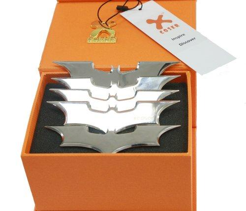 Xcoser Bane Mask and Batman Bat Darts Replica Update Cosplay Prop for The Dark Knight Rises Accessory