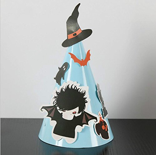 YChoice Adding a Festive Atmosphere Halloween Decoration DIY Ghost and Bat Pattern Cone -