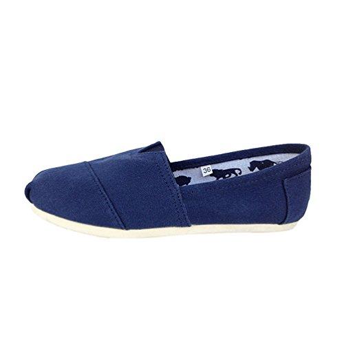 Basse Flats Unisex Uomo Dooxii Casuale Espadrillas Tinta Scarpe Slip blu Unita Loafers Moda on Donna Scarpe wH6Hdv