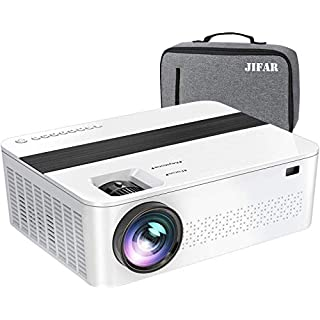 "True 1080p Projector,7000Lux Projector for Outdoor Movies with 400"" Mega Screen,Support 4K Dolby & Zoom,100000 hrs Life,Indoor & Outdoor Projector Compatible with TV Stick,HDMI,VGA.USB,Smartphone,PC"