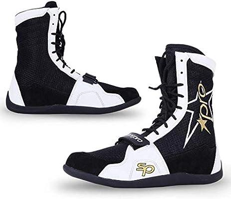 Starpro Superior Boxeo Lucha Zapatos Secado Fresco para Entrenamiento para Boxeadores Suela de Goma con Cordones y Malla Transpirable Ejercicio Muay Thai Artes Marciales Fitness