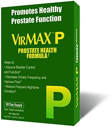 VirMAX P Prostate Health Formula, Supports Bladder Urinary Health, 30 Capsules 30 Capsules Pack of 3