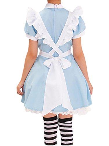 Nuevo de Alicia en el país de personajes de manga japonés camarera disfraz  infantil de lolita maid DISFRAZ para vestidos de azul  Amazon.es  Juguetes  y ... 46eb899cb3b4