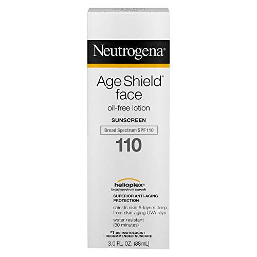 Neutrogena Age Shield Face Lotion Sunscreen with Broad Spectrum SPF 110, Oil-Free Non-Comedogenic Moisturizing Sunscreen to Prevent Signs of Aging, 3 fl. oz Pack of 2