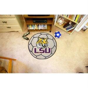 (Fan Mats Louisiana State University Tigers Soccer Ball Mat)
