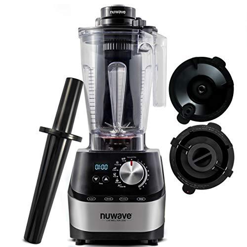 NUWAVE Moxie NSF-Certified 1500-watt High-Performance Digital Vacuum Blender with BPA-Free 64-ounce Pitcher, Vacuum Lid and Plunger Lid