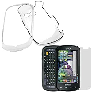 GTMax 2 Pieces-Clear Crystal Hard Cover Case+LCD Screen Protector For Samsung flight II Cell Phone