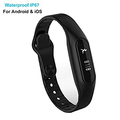 Fitness Tracker Waterproof, YAMAY® Bluetooth Smart Bracelet Band Touch Screen Activity Tracker Pedometer Calories Burned Sleep Distance Call Text Message for Android iPhone Sports Running Swimming