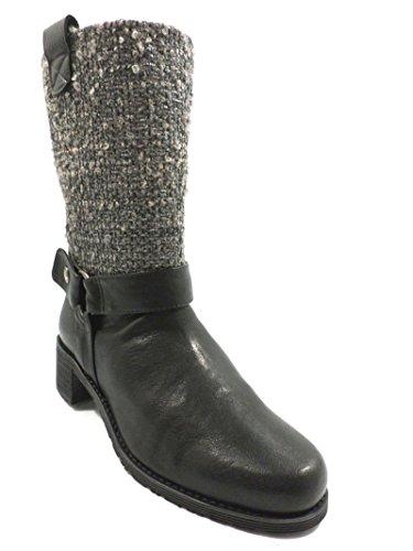 Donna Stuart Weitzman scarpe stivali pelle tessuto