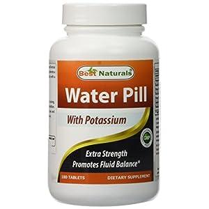 Best Naturals Water Pills with Potassium Tablet, 180 Count