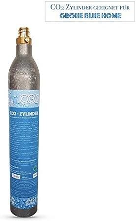 Cilindro CO2, botella deCO2adecuado para sistema de agua potable Grohe Blue Home. Rellenados con CO2.