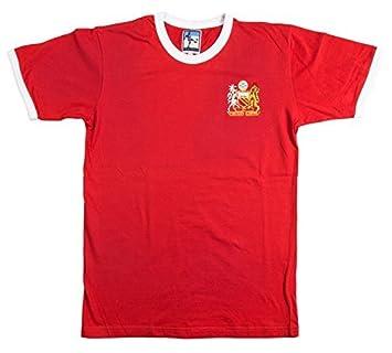 Camiseta de Fútbol del Manchester United Estilo Retro Old School - Rojo, Extra
