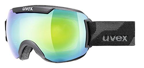 UVEX Skibrille downhill 2000, Black Mat/Ltm Green, One size, S5501092326