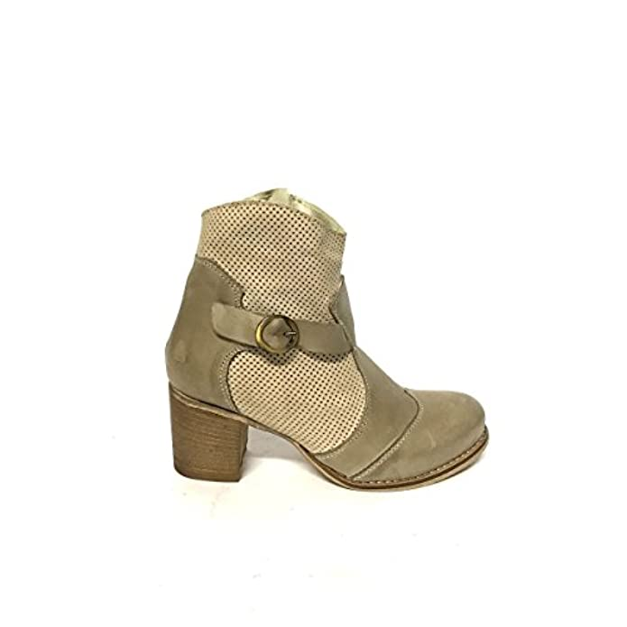 Zeta Shoes Stivaletti Donna Con Tacco Medio In Ver Pelle Estivi Made Italy Mainapps
