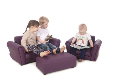 nouveau concept c4f3a 2720a Canapé 2 Places PU Cuir Violet LAZYBONES Enfant Chaise/Siège ...
