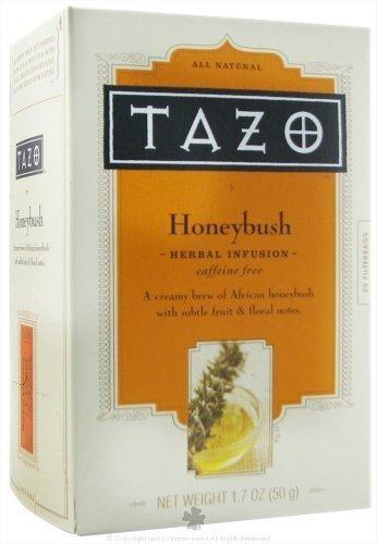 (Tazo Honeybush Herbal Infusion Tea, Caffeine Free, 20-Count Tea Bags (Pack of 6) (Value Bulk Multi-Pack))