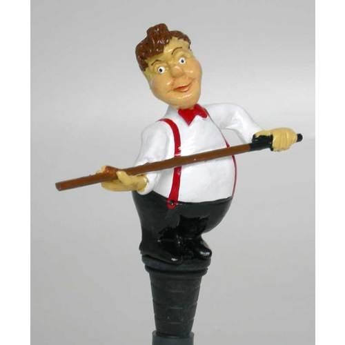 Snooker Player Bottle Stopper