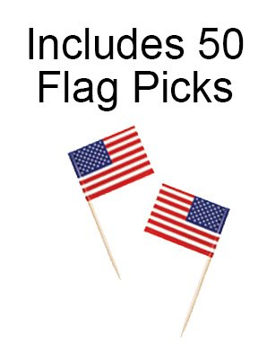 Patriotic Party Supplies for 18 Guests: Plates, Napkins and USA Flag Picks by Life on the Lane (Image #5)