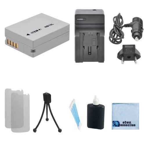 NB-10L High-Capacity Battery, Car/Home Charger for Canon PowerShot SX50 HS, SX40 HS, G15, G16, G1 X, SX60 & More. Cameras & an eCostConnection Complete Starter Kit by eCostConnection (Image #6)