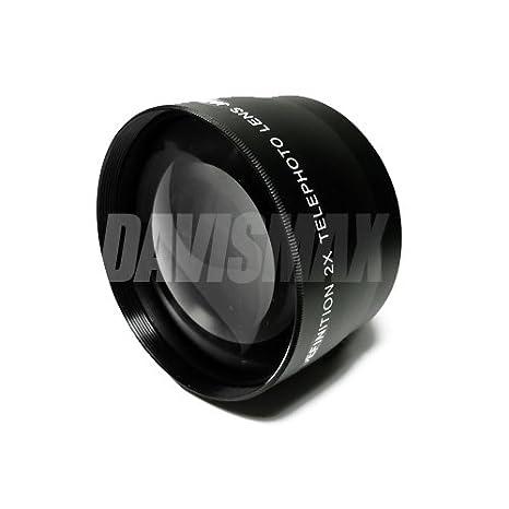 Lens Caps and Lens Bag For The Nikon 105mm VR 60mm 20mm 20mm IS 200mm 85mm For Any Of These Nikon D5100 D5000 D7000 D700 D3100 D3000 D90 SLR Cameras 62mm DM Optics 2X Telephoto Lens Includes 70-300mm