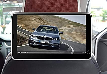 New Type Ultra Thin 2PCS 11.6 Inch Touch Screen Car Headrest Monitor for BMW Series 1 2 3 4 5 6 7 X1 X3 X5 X6 X7 Back Seat Pillow Video Player Support Bluetooth USB FM