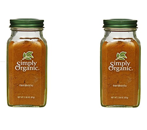 Simply Organic Turmeric Root Ground Certified Organic, 2.38-Ounce Container (2 Bottles)