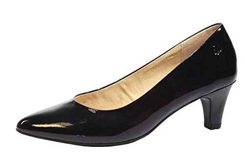 Caprice 9-22403-26 Pumps Lackleder Walking On Air G-Weite Cristina Black Patent