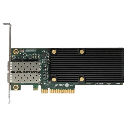 CHELSIO COMMUNICATIONS T520-LL-CR 2-port Low Latency Profile 1/10GbE UWire Adapter with PCI-E x8 Gen 3, 32K conn SFP+ connector
