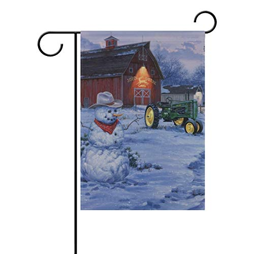 Welcome Home Garden Flag and Yard Flag for Outdoor Use Double Sided Vertical Small Yard Flags John Deere Winter Christmas Weatherproof Polyester Durable Outdoor Flags