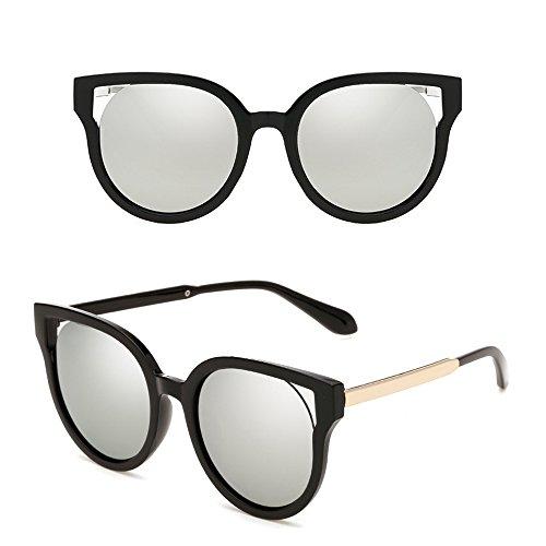 lunettes Cat Dintang en Frame Wayfarer de de soleil Cadre métal de mode Noir hommes soleil Eye Lentille Argent femmes Unisexe et lunettes pour noir O55wqSA