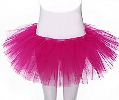 Women's Full Ballet Tutu Adult Dance Costume 5 Layered Tulle Dress Up Skirt