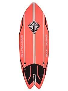 """Scott Burke 5'2"""" Fish Soft Surfboard, White/Red/Yellow"""