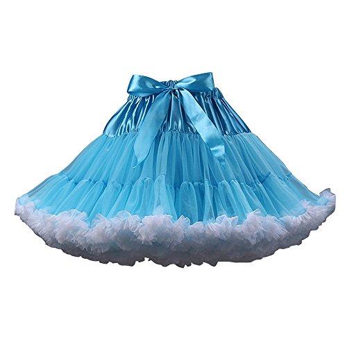 Blanc jupe soie mousseline tutu en Bleu OCHENTA Femme de femmes Jupe ballet Danse de Mini Tulle Jupe xa0xgwRq