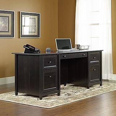 Sauder Edge Water Executive Desk, Estate Black Finish (Sauder Computer Furniture)