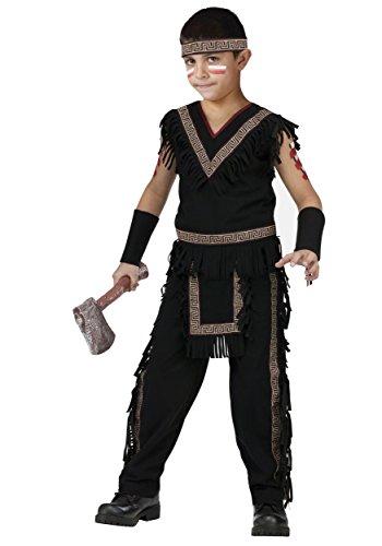 Fun World Big Boy's American Indian Midnight Brave Kids Costume Childrens Costume, Multi, Medium
