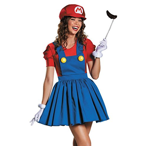 MineTom Women's Super Mario Skirt Cosplay Adult Costume for Halloween Large