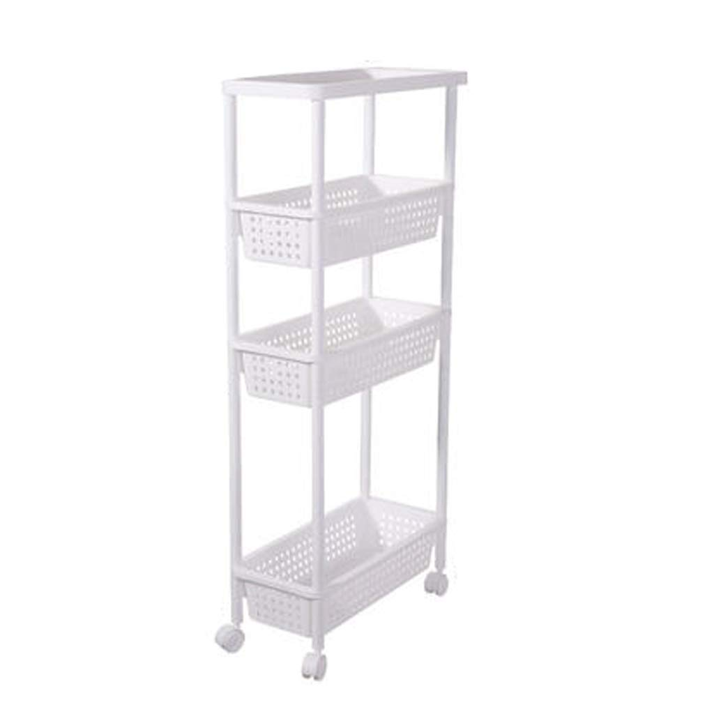 2 Storage Cart Storage Storage Rack Kitchen Cart Spice Rack with Rolling Casters (color   1)
