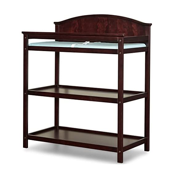 Imagio Baby Harper Changing Table with Pad, Chocolate Mist