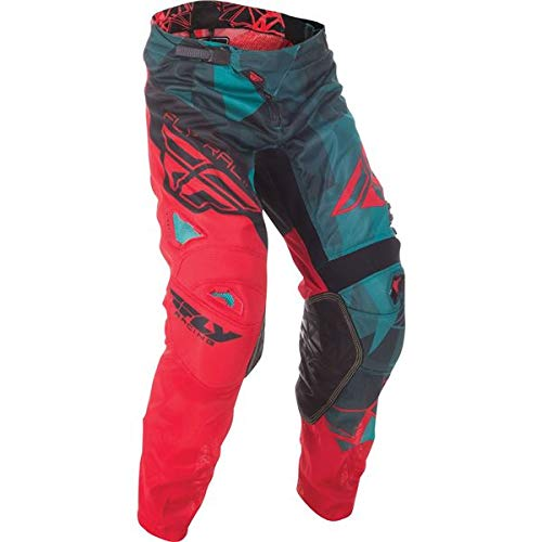 Fly Racing Unisex-Adult Kinetic Mesh Pants Teal/Red/Black Size 32