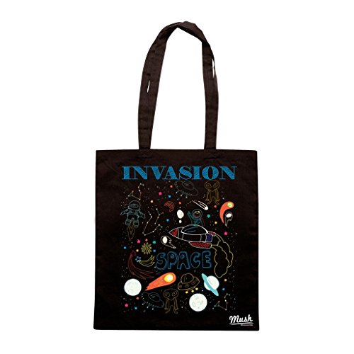 Borsa INVASION SPACE KID - Nera - MUSH by Mush Dress Your Style