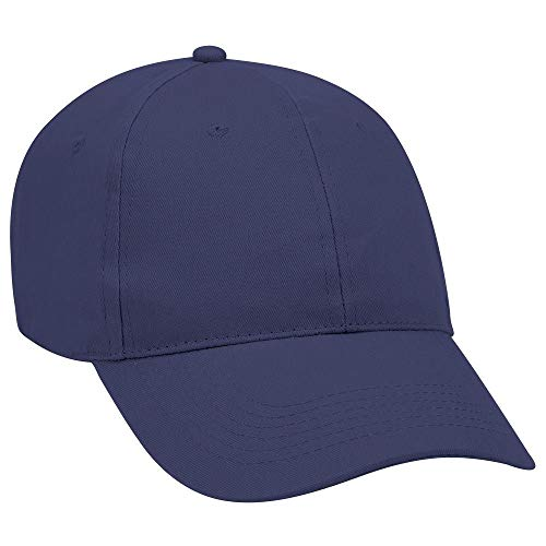 OTTO Brushed Promo Cotton Twill 6 Panel Low Profile Baseball Cap - Navy