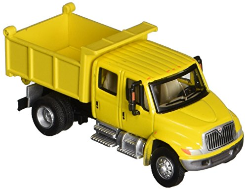 Walthers SceneMaster International 4300 Crew Cab Dump Truck  Yellow by Walthers SceneMaster