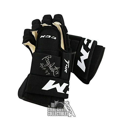 Bryan Trottier HOF 97 Autographed Hockey Gloves - BAS COA (Right Glove) - Beckett Authentication - Autographed NHL Gloves