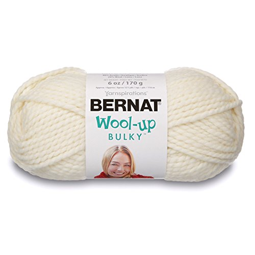 Bernat Wool-Up Bulky Yarn, 6 Ounce, Aran, Single Ball