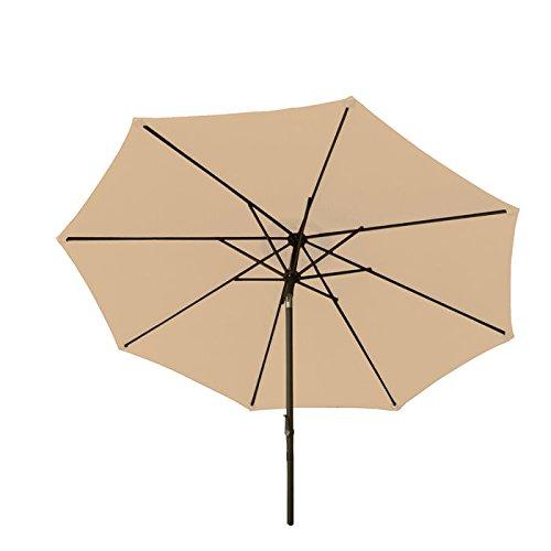 Bliss Hammocks 9' Aluminum Market Umbrella with Crank and Ti